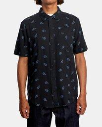 1 Colours Paisley Short Sleeve Shirt Black AVYWT00228 RVCA