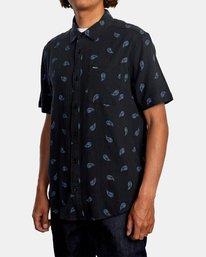4 Colours Paisley Short Sleeve Shirt Black AVYWT00228 RVCA