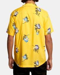 2 Cliffs Floral Short Sleeve Shirt White AVYWT00229 RVCA