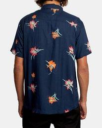 2 Cliffs Floral Short Sleeve Shirt Blue AVYWT00229 RVCA