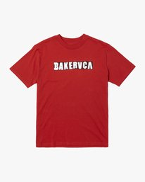 0 BAKERVCA RANSOM SHORT SLEEVE TEE Red AVYZT00162 RVCA