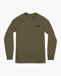 0 ICON PERFORMANCE LONG SLEEVE TEE Green AVYZT00178 RVCA
