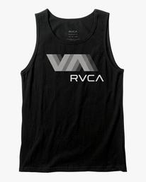 0 VA RVCA BLUR PERFORMANCE TANK TOP Black AVYZT00181 RVCA