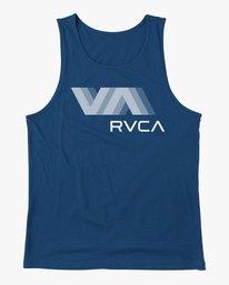 0 VA RVCA BLUR PERFORMANCE TANK TOP Blue AVYZT00181 RVCA