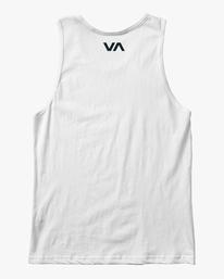 1 VA RVCA BLUR PERFORMANCE TANK TOP White AVYZT00181 RVCA