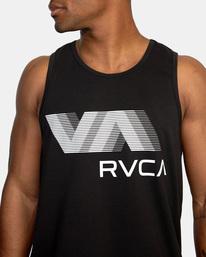 4 VA RVCA BLUR PERFORMANCE TANK TOP Black AVYZT00181 RVCA