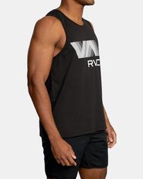 6 VA RVCA BLUR PERFORMANCE TANK TOP Black AVYZT00181 RVCA