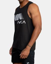 7 VA RVCA BLUR PERFORMANCE TANK TOP Black AVYZT00181 RVCA