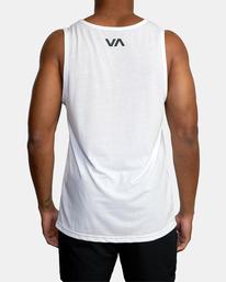 3 VA RVCA BLUR PERFORMANCE TANK TOP White AVYZT00181 RVCA