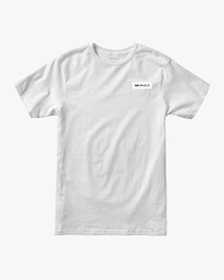 0 ICON SHORT SLEEVE PERFORMANCE TEE White AVYZT00184 RVCA