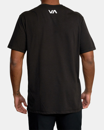 3 VA Sport | Icon Workout Shirt Black AVYZT00184 RVCA