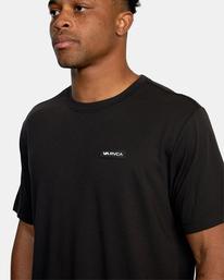 4 VA Sport | Icon Workout Shirt Black AVYZT00184 RVCA