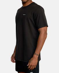 6 VA Sport | Icon Workout Shirt Black AVYZT00184 RVCA