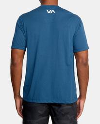 2 VA Sport | Icon Workout Shirt Blue AVYZT00184 RVCA