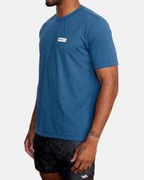 4 VA Sport | Icon Workout Shirt Blue AVYZT00184 RVCA