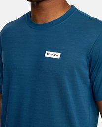 6 VA Sport | Icon Workout Shirt Blue AVYZT00184 RVCA