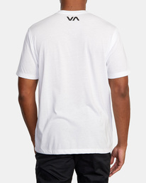 3 VA Sport | Icon Workout Shirt White AVYZT00184 RVCA