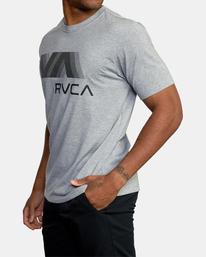 5 VA RVCA BLUR SHORT SLEEVE PERFORMANCE TEE Grey AVYZT00189 RVCA