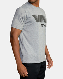 6 VA RVCA BLUR SHORT SLEEVE PERFORMANCE TEE Grey AVYZT00189 RVCA