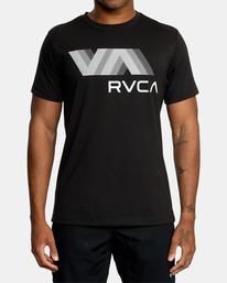 2 VA RVCA BLUR SHORT SLEEVE PERFORMANCE TEE Black AVYZT00189 RVCA