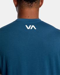 8 VA RVCA BLUR SHORT SLEEVE PERFORMANCE TEE Blue AVYZT00189 RVCA