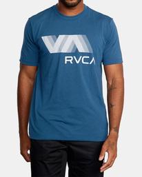 2 VA RVCA BLUR SHORT SLEEVE PERFORMANCE TEE Blue AVYZT00189 RVCA