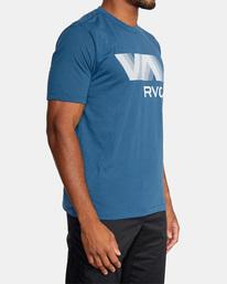 6 VA RVCA BLUR SHORT SLEEVE PERFORMANCE TEE Blue AVYZT00189 RVCA
