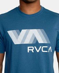 7 VA RVCA BLUR SHORT SLEEVE PERFORMANCE TEE Blue AVYZT00189 RVCA