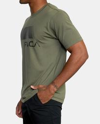 3 VA RVCA BLUR SHORT SLEEVE PERFORMANCE TEE Green AVYZT00189 RVCA