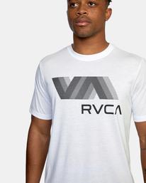 4 VA RVCA BLUR SHORT SLEEVE PERFORMANCE TEE White AVYZT00189 RVCA