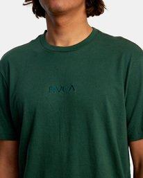 3 SMALL RVCA SHORT SLEEVE TEE Green AVYZT00214 RVCA