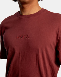 3 SMALL RVCA SHORT SLEEVE TEE Red AVYZT00214 RVCA