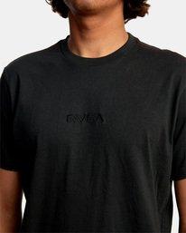 3 SMALL RVCA SHORT SLEEVE TEE Black AVYZT00214 RVCA