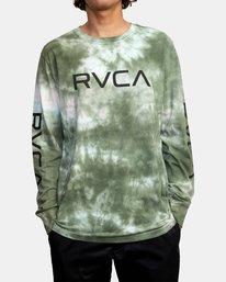 1 BIG RVCA TIE DYE LONG SLEEVE TEE Green AVYZT00223 RVCA