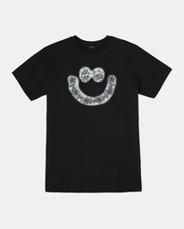 0 SKULL AND ROSES SHORT SLEEVE TEE Black AVYZT00228 RVCA
