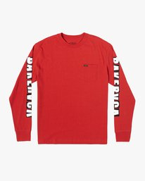 0 BAKERVCA RANSOM LONG SLEEVE TEE Red AVYZT00279 RVCA