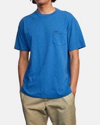 1 SOLO LABEL PIGMENT DYE SHORT SLEEVE TEE Red AVYZT00301 RVCA