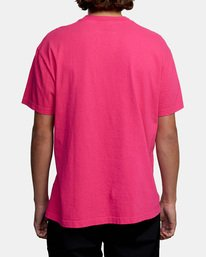 2 SOLO LABEL PIGMENT DYE SHORT SLEEVE TEE Red AVYZT00301 RVCA