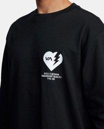 4 BEDWIN HEARTBREAKER LONG SLEEVE TEE Black AVYZT00318 RVCA