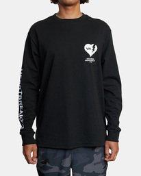 2 BEDWIN HEARTBREAKER LONG SLEEVE TEE Black AVYZT00318 RVCA