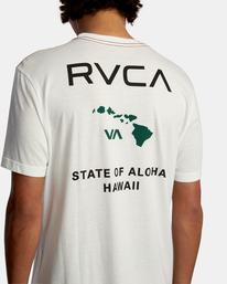 7 STATE OF ALOHA SHORT SLEEVE TEE White AVYZT00323 RVCA