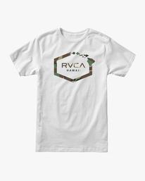 0 ISLAND HEX SHORT SLEEVE TEE White AVYZT00324 RVCA