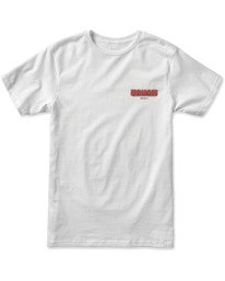 0 WELCOME TO PIPE SHORT SLEEVE TEE White AVYZT00325 RVCA