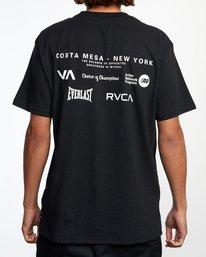 3 RVCA EVERLAST CM NY SHORT SLEEVE TEE Black AVYZT00397 RVCA