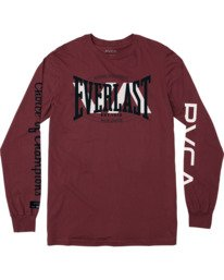0 RVCA EVERLAST STACK PATCH LONG SLEEVE TEE White AVYZT00458 RVCA
