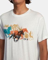 5 Ben Horton | Wyld Horses Short Sleeve Tee White AVYZT00460 RVCA