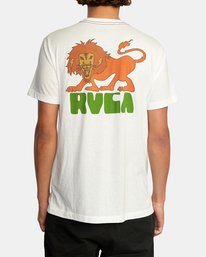 3 Peace Lion Short Sleeve Tee White AVYZT00462 RVCA