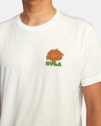 6 Peace Lion Short Sleeve Tee White AVYZT00462 RVCA