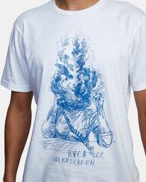 4 Ben Horton   Smokescreen Short Sleeve Tee White AVYZT00474 RVCA