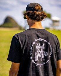 0 Tres Hombres Short Sleeve Tee Black AVYZT00475 RVCA